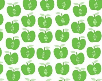 Hand Picked - Apples Green - Carolyn Gavin of Ecojot - Windham (43113-3) - Organic Cotton