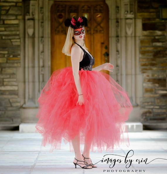 Red Tutu Skirt Adult Halloween Costume