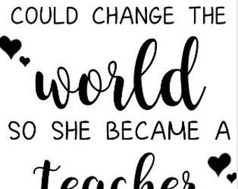 So She Became A Teacher