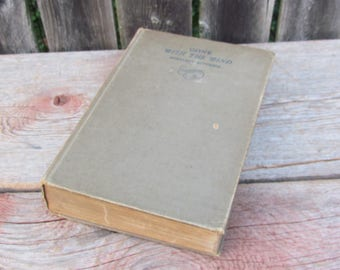 Vintage 1936 'Gone With The Wind' by Margaret Mitchell, Hardcover, The Macmillan Comany