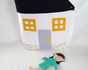 Book cloth children's Doll House