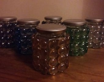 Pebbled jars