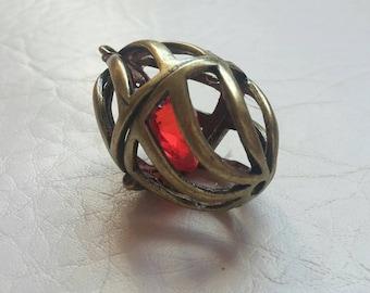 Steampunk jewelry/ steampunk locket 'the heart's core'