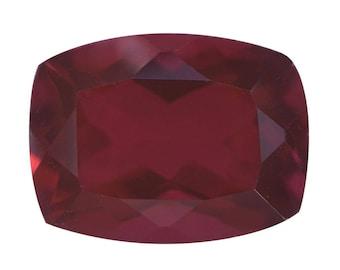 Blazing Red Triplet Quartz Loose Gemstone Cushion Cut 1A Quality 16x12mm TGW 9.35 cts.