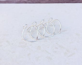 Chevron Ring, Thin Ring, Midi Ring, Knuckle Ring, Stacking Rings, Ring Set, Midi Ring, Mid Finger Ring, Sterling Silver Ring