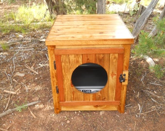 Jumbo Cedar Kitty Litter Cabinet - Front Entry