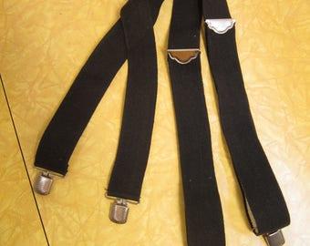 1970s Black Braces