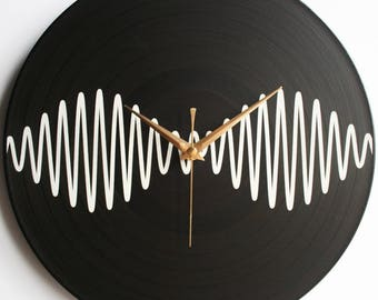 AM Album Art - Arctic Monkeys - 12″ LP Vinyl Record Wall Clock, AM, handcrafted, alex turner