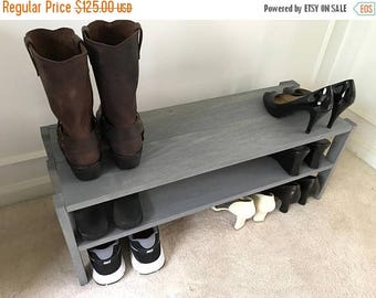 ON SALE Functional Solid Wood Shoe Rack, Entryway Shoe Rack, Closet Shoe Rack, Closet Organizer, Shoe Stand, Shoe Shelving