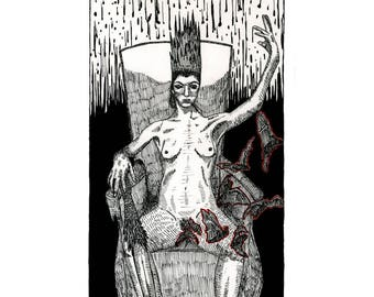 Queen of Swords - Poster Print - The Tarot Restless