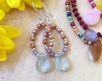 Quartz Gemstone Earrings