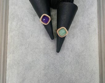 Natural Stone rings