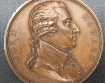 1829 French Historical Medal Of British Prison Reformer John Howard.