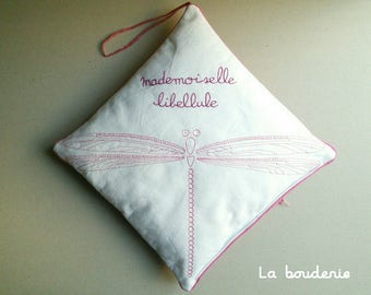 Cushion embroidery Dragonfly Pajama bag