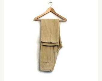SALE Vintage mens cord pants / Mens corduroy trousers / ERMENEGILDO ZEGNA men's cord pants / Mens cotton designer trousers