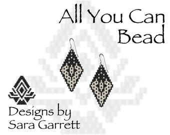 Peyote Earrings With Sterling Silver Filled Ear Wires Designed and Created by Sara Garrett 157