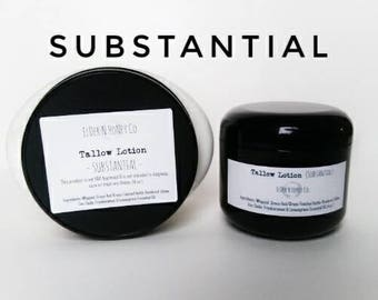 Tallow Lotion -(SUBSTANTIAL) Grass-Fed Tallow Lotion - For Dry Skin - Severe Dry Skin - Eczema - Psoriasis - Winter Dry Skin Gifts lotion