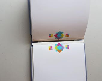 Creative Memories Light blue 7x7 album, with pre decorated pages