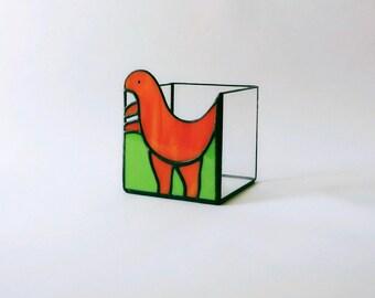 Candlestick cube dinosaur tyrannosaur