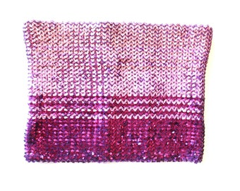 90's Pink Disco Sequin Tube Top S