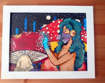 Mozz: Fly Agaric |Original Hand Illustrated Creamii Print