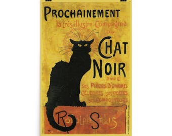 Le Chat Noir Poster Black Cat Paris Cabaret 24x36