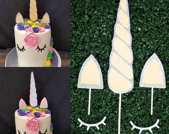 Unicorn cake topper kit