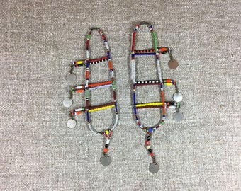 Kenya Samburu tribal over the ear earrings