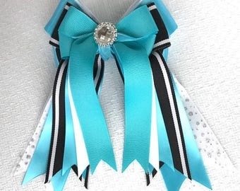 Hair Bows for Horse Shows/Equestrian Clothing/Sparkle gem glitter