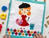 Unpaper Towel (For Easter Basket, For Painter, Single Cloth Napkin, Gift For Artist, Happy Little Painter, Reusable Napkin, Colorful Napkin)
