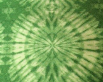 Fabric by the 1/2 Yard - Green Tie Dye Polar Fleece
