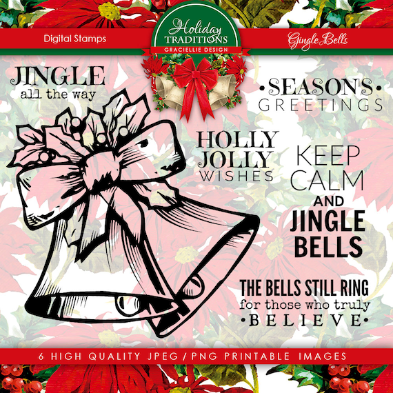 Graciellie Design Jingle Bells Digital Stamp set