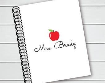 Personalized Notebook, Teacher Spiral Notebook, Writing Journal (NB-003-PC)