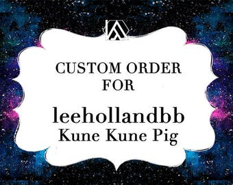 RESERVED LISTING for leehollandbb Kune Kune Pig Feltsidermy Faux Taxidermy head, vegan.