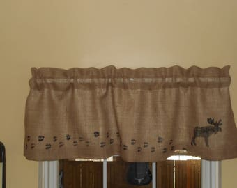 Moose Curtains Etsy