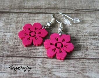 """Earrings """"Flower"""" in pink"""
