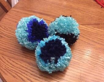 Pompom kitty toys