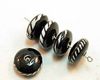 5 pieces Exclusive glass beads: Axatasa, ± 8x16 mm.