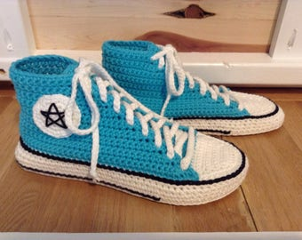 Made to Order, Slippers, Houseshoes, Crochet, Converse Slippers