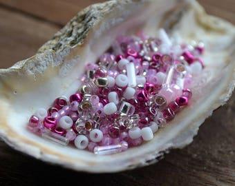 10 gram Toho beads Multi-Shape/Color Mix  : Sakura- Cherry