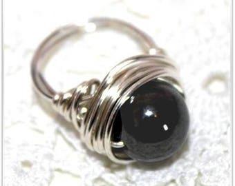 Natural Hematite ring