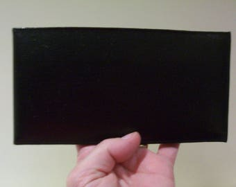 Black leather cheque book holder wallet. Card holder. Leather wallet