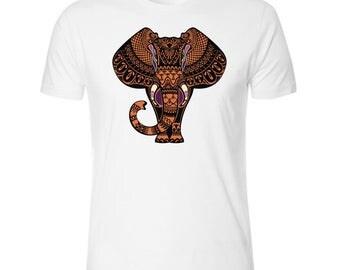 Surreal Elephant Men's White T shirt