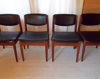 Finn Juhl Model 197 Dining Chairs for France and Son