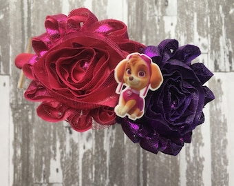 FREE HIPPING Paw Patrol Skye Headband- Birthday Party - Paw Patrol Birthday - Paw Patrol Bow