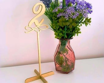Sale Gold table numbers  . Freestanding numbers for wedding. Table numbers.Wedding Decor.