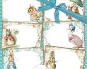 80% off Mothers Day Sale Peter Rabbit Postcards Cards Labels Easter Images Digital Collage Sheet Peter Rabbit Birthday Party Nursery Baby Sh