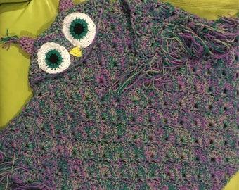 Adults hooded owl blanket