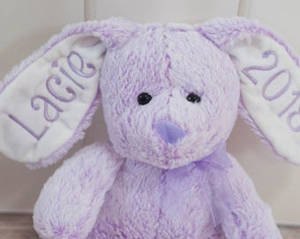 First Easter or Personalized Purple Easter Bunny with Name, Year, First Easter