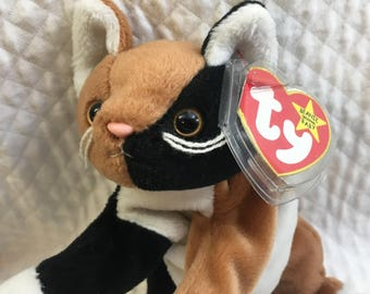 Beanie Baby, Ty Beanie Baby, Chip the Cat, Cat Plush, Cat Beanie Baby, Ty Cats, Ty Babies, Ty Kitties, Plush Cats, Chip Ty Baby